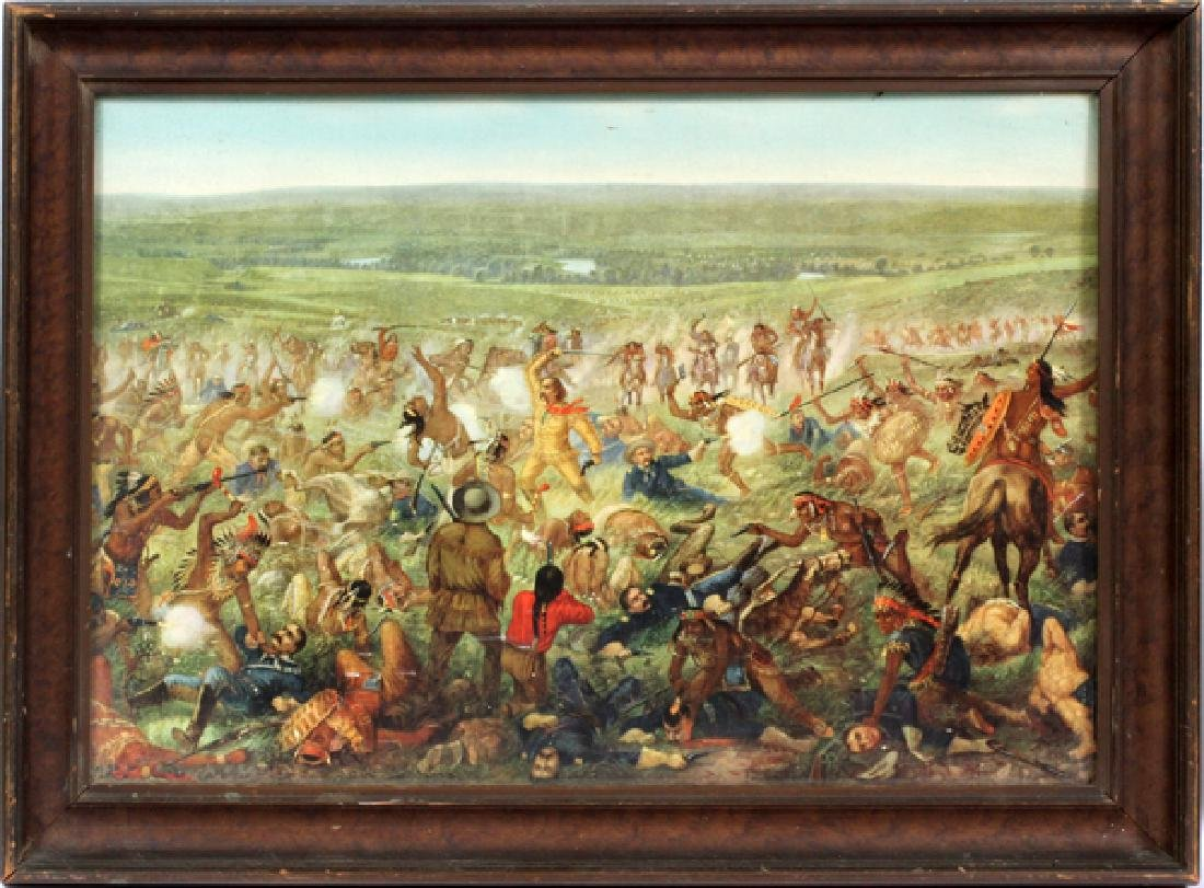COLOR PRINT CUSTER'S LAST STAND