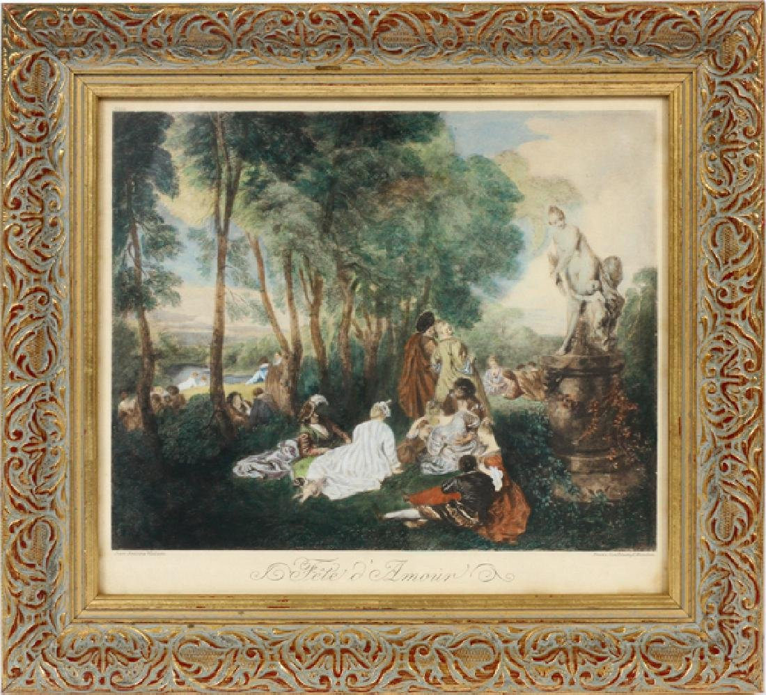 AFTER JEAN-ANTOINE WATTEAU REPRODUCTION PRINT