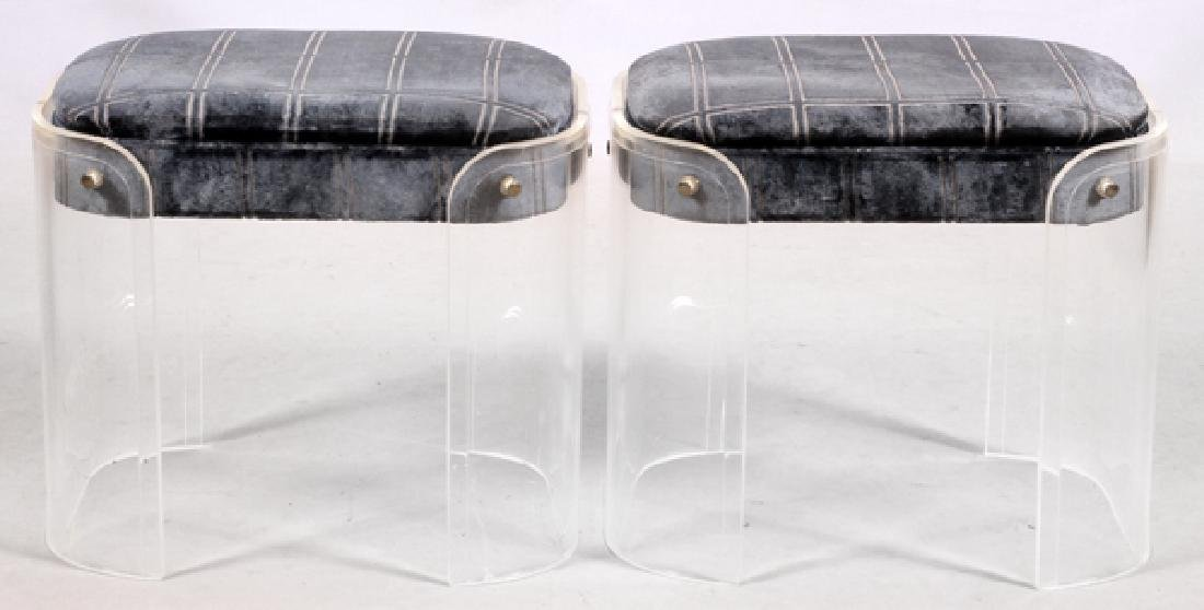 MID CENTURY MODERN LUCITE BENCHES