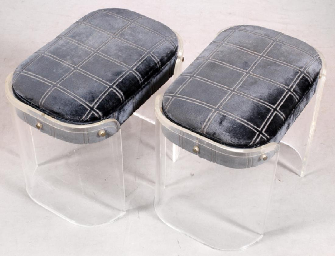 MID CENTURY MODERN LUCITE BENCHES - 2