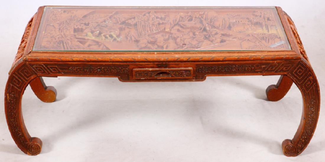 CHINESE CARVED ROSEWOOD TABLE