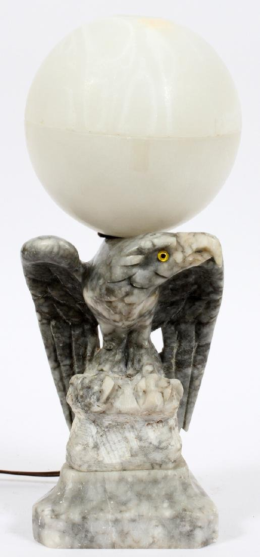 EAGLE LAMP WITH MARBLE BASE C1950