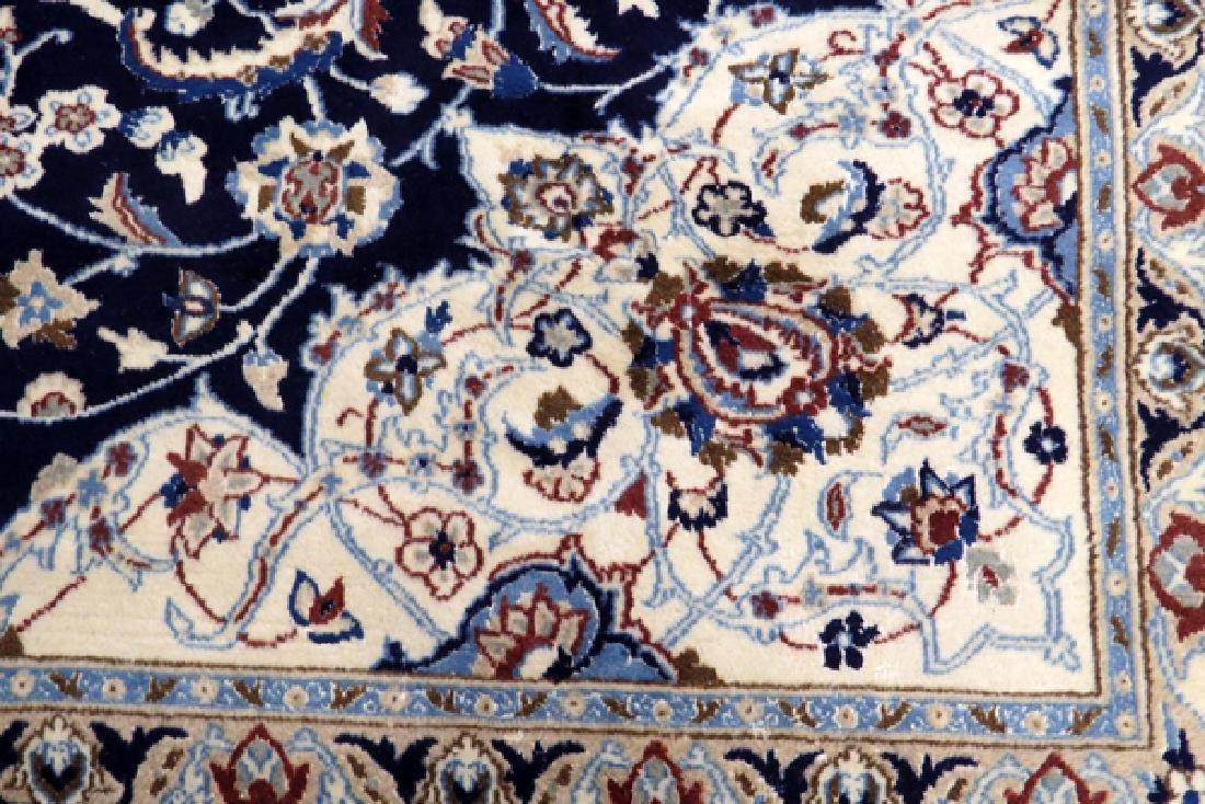NAIN PERSIAN WOOL ORIENTAL RUG - 3