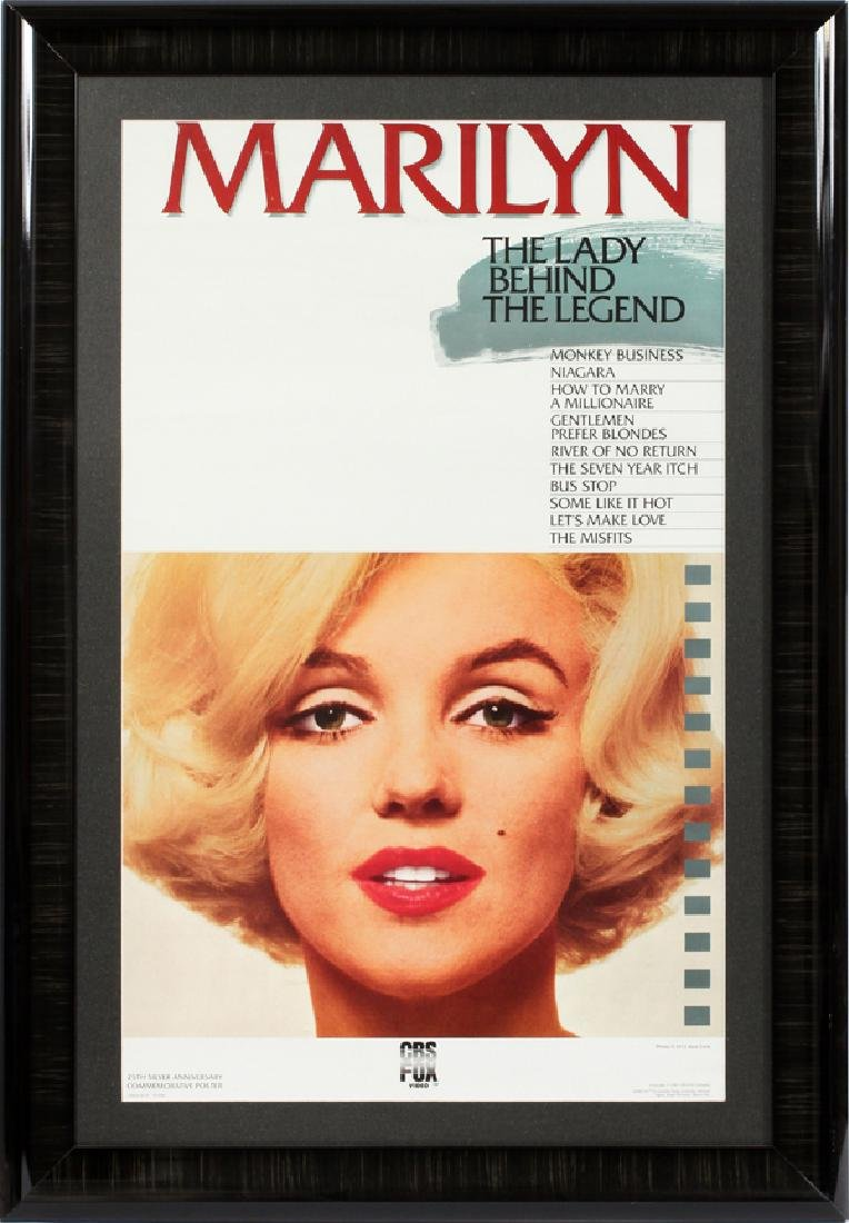 """MARILYN"" 25TH ANNIVERSARY COMMEMORATIVE POSTER"