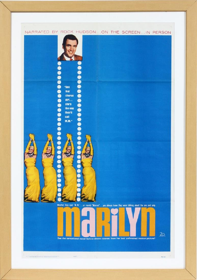 """MARILYN"" MOVIE POSTER, H 40'', W 25'', 63/120"
