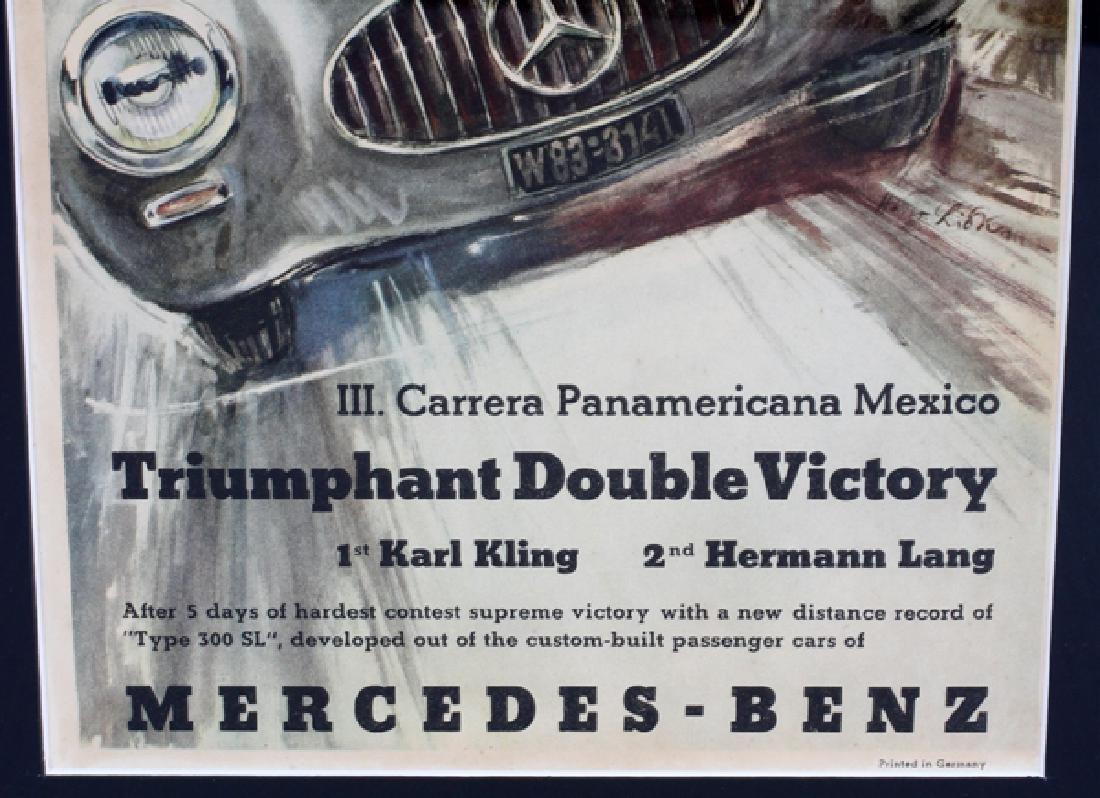 "MERCEDES BENZ POSTER ""TRIUMPHANT DOUBLE VICTORY"" - 3"
