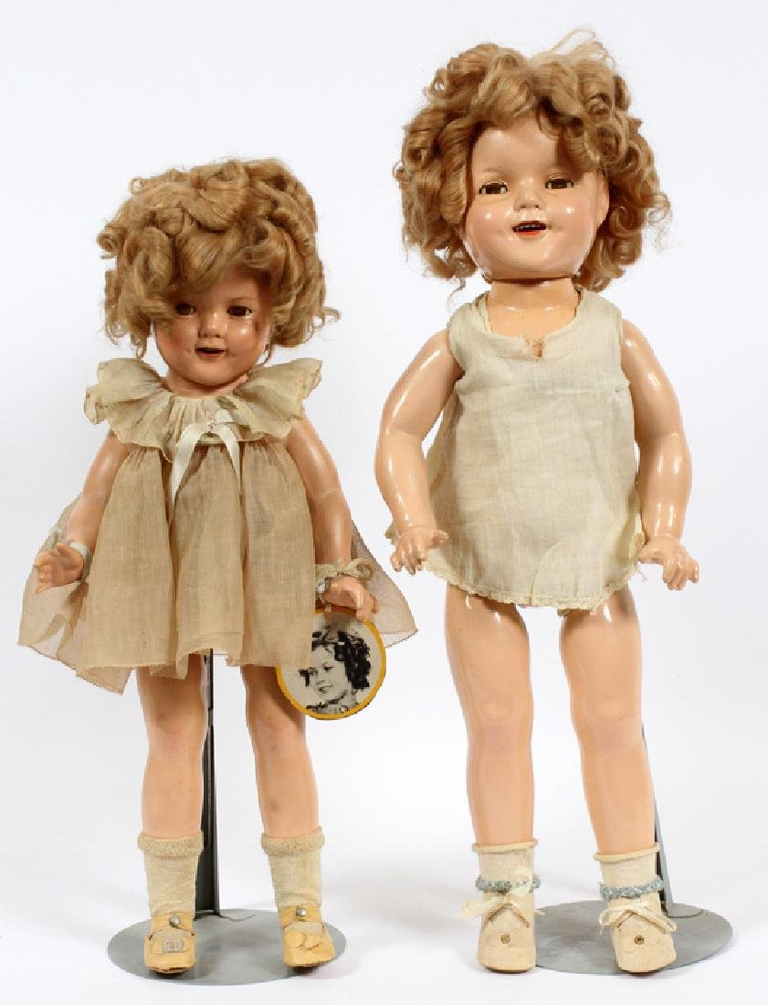 SHIRLEY TEMPLE DOLLS, 2 ITEMS, H 19'' - 22''
