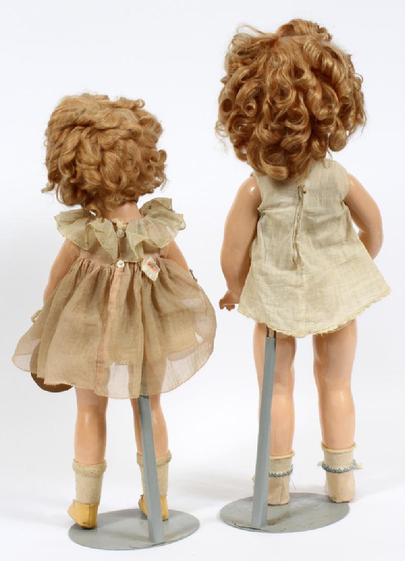 SHIRLEY TEMPLE DOLLS, 2 ITEMS, H 19'' - 22'' - 2