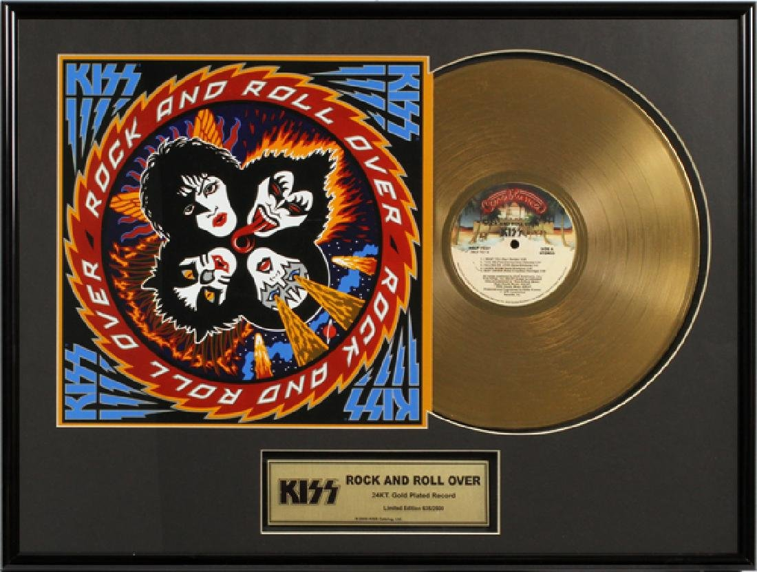 KISS, 'ROCK & ROLL OVER' 24KT GOLD PLATED RECORD