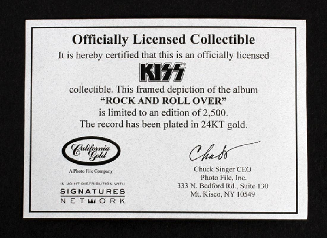KISS, 'ROCK & ROLL OVER' 24KT GOLD PLATED RECORD - 3