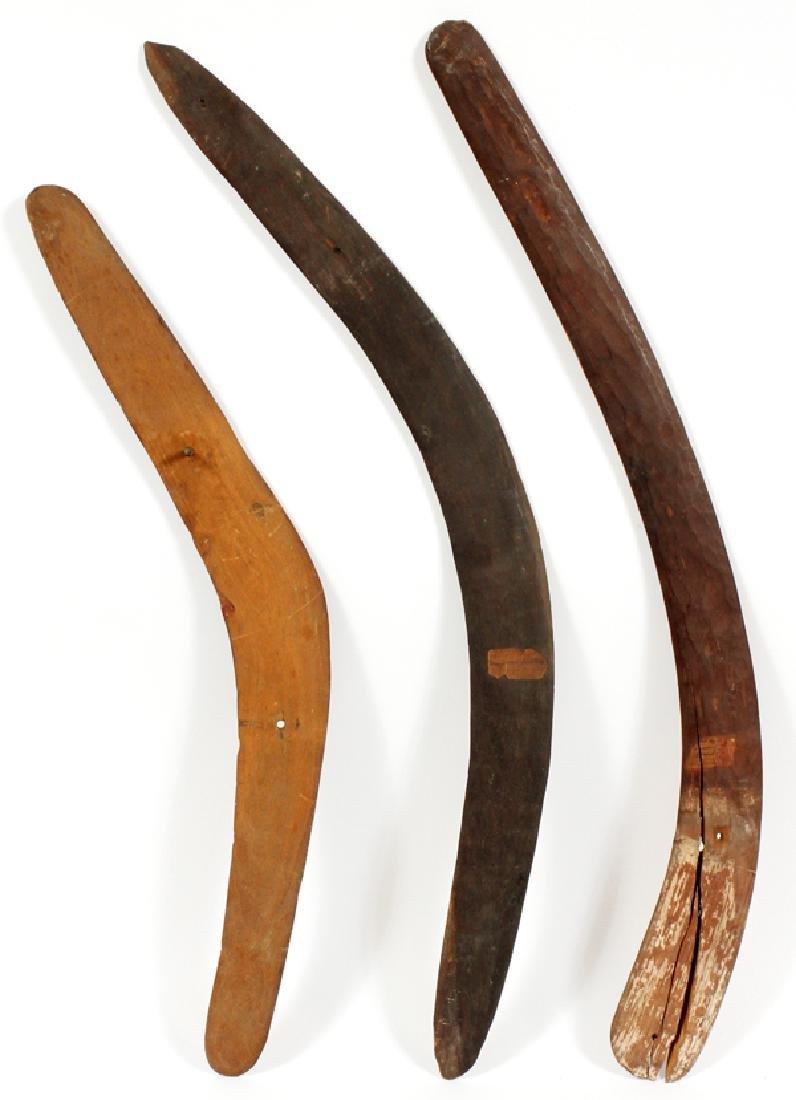 AUSTRALIAN BOOMERANGS, 3, L 22-27'' - 3
