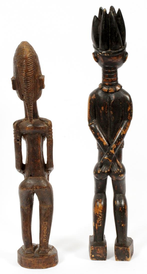AFRICAN CARVED WOOD FERTILITY FIGURES, TWO - 2