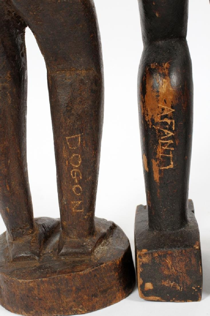 AFRICAN CARVED WOOD FERTILITY FIGURES, TWO - 3
