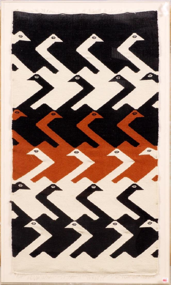 INDIGENOUS WEAVING, H 46'', W 25'', BIRDS