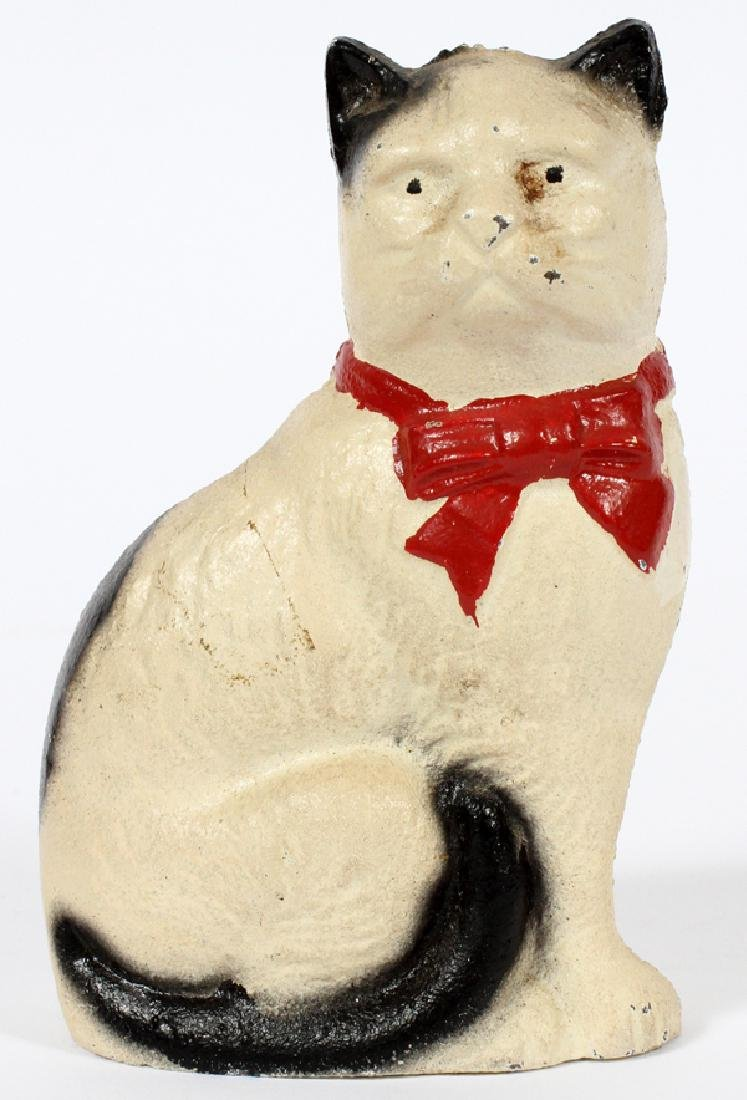 "METAL & PAINTED CAT BANK, H 4 1/4"", W 2 1/2"""