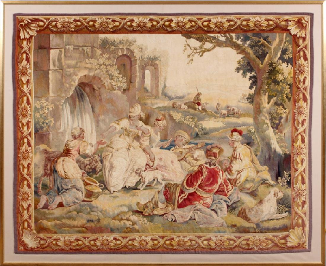 FRENCH NAPOLEON III AUBUSSON TAPESTRY CIRCA 1850