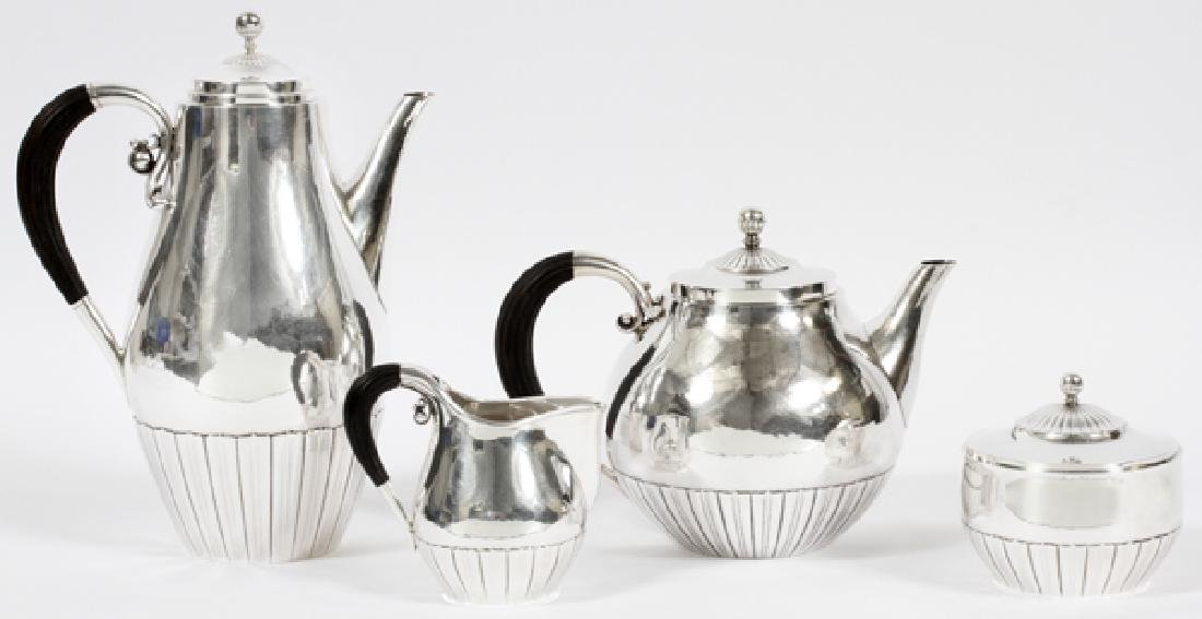 JOHAN ROHDE FOR GEORG JENSEN 'COSMOS' TEA SET