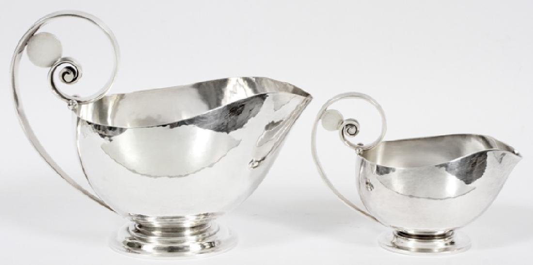 JOHAN ROHDE FOR GEORG JENSEN STERLING SILVER BOATS