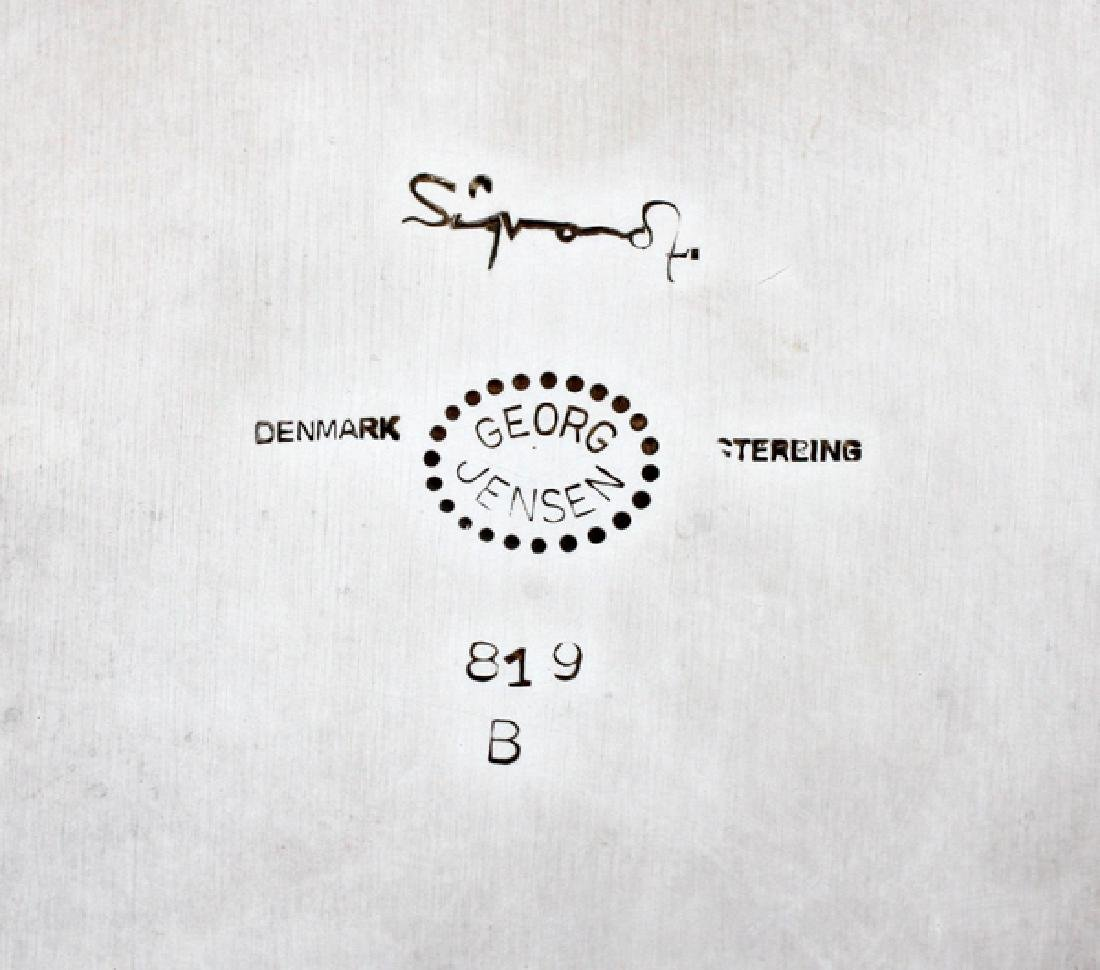 SIGVARD BERNADOTTE STERLING SILVER SHAKER & TRAY - 3
