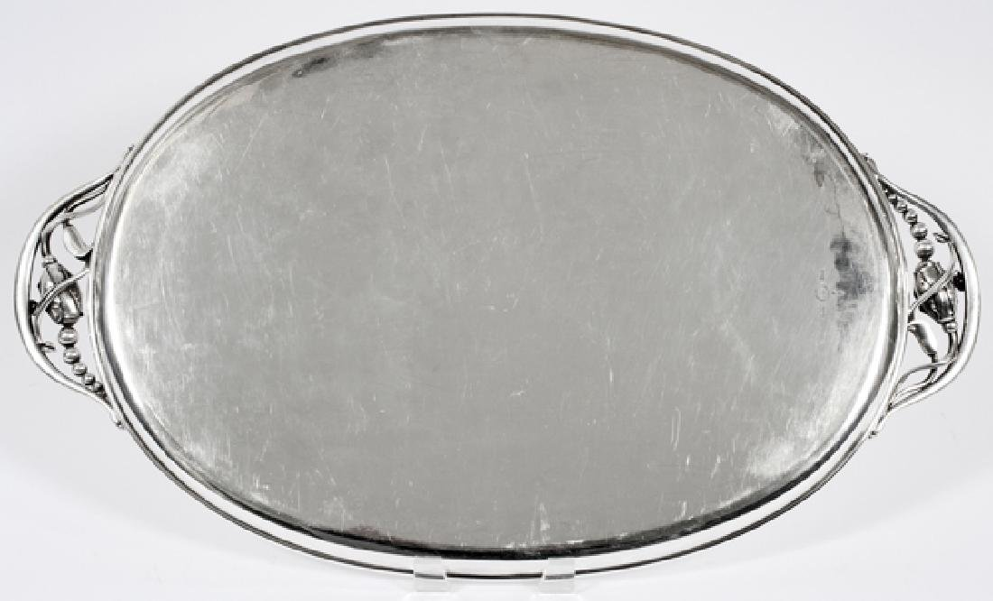 GEORG JENSEN STERLING 'BLOSSOM' OVAL TRAY - 4