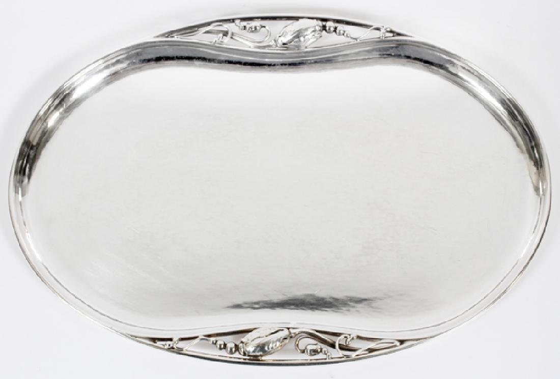 GEORG JENSEN STERLING 'BLOSSOM' TRAY, NO. 2P