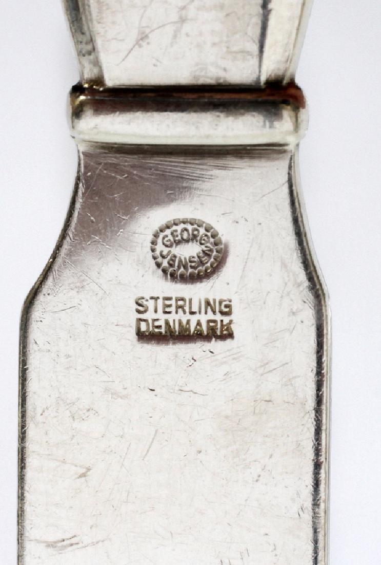 GEORG JENSEN STERLING 'SCROLL' FLATWARE SET - 4