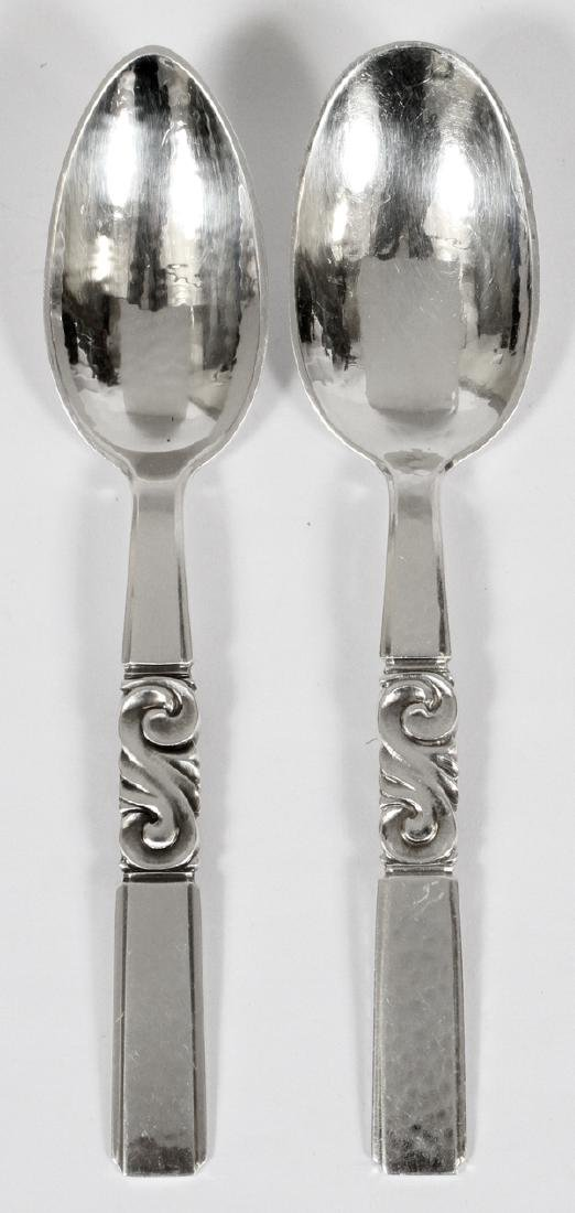 GEORG JENSEN STERLING 'SCROLL' TEASPOONS 14 PCS. - 2