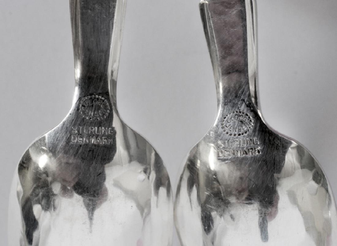 GEORG JENSEN 'SCROLL' ICE TEA & DEMI TASSE SPOONS - 4
