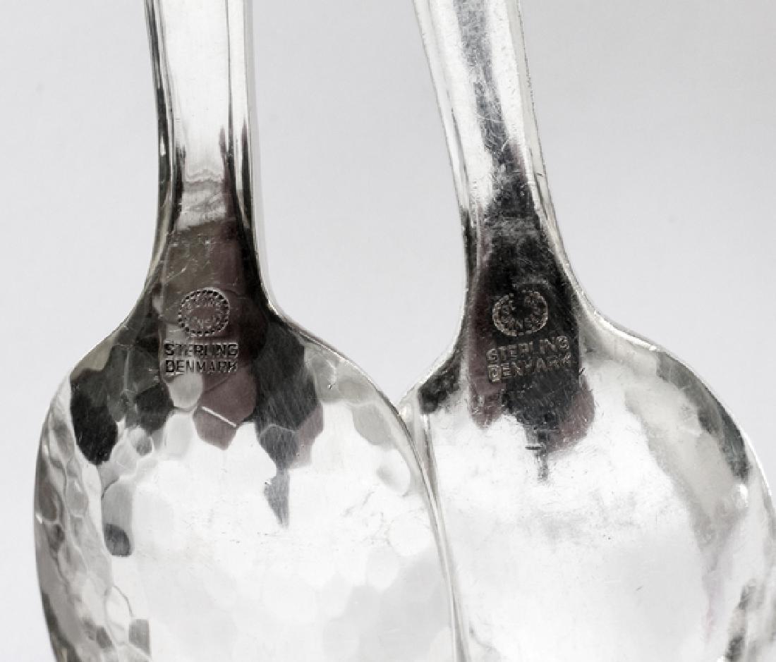 GEORG JENSEN 'SCROLL' ICE TEA & DEMI TASSE SPOONS - 5