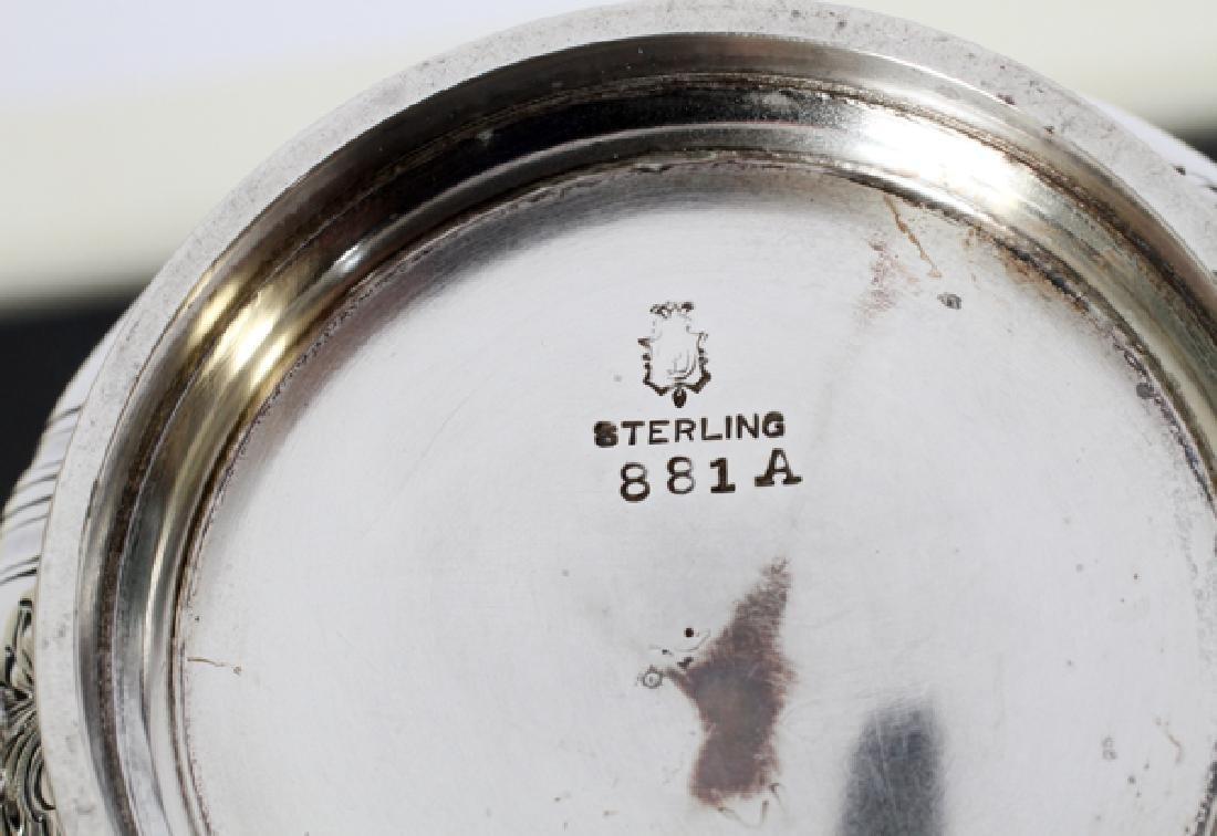 WM B DURGIN CO & GORHAM STERLING SILVER COFFEE SET - 3