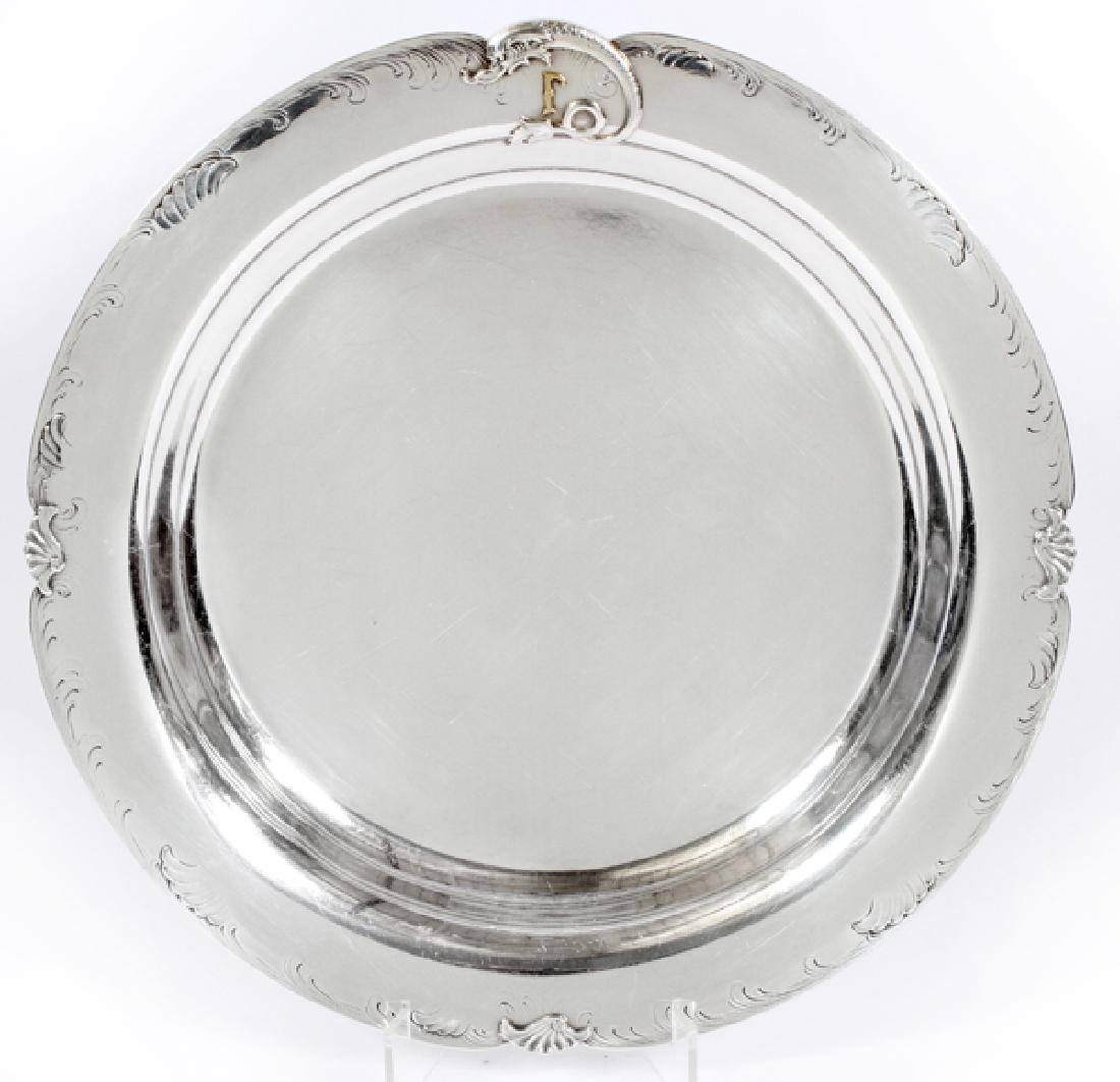 BARBOUR SILVER CO. STERLING FOOTED TRAY