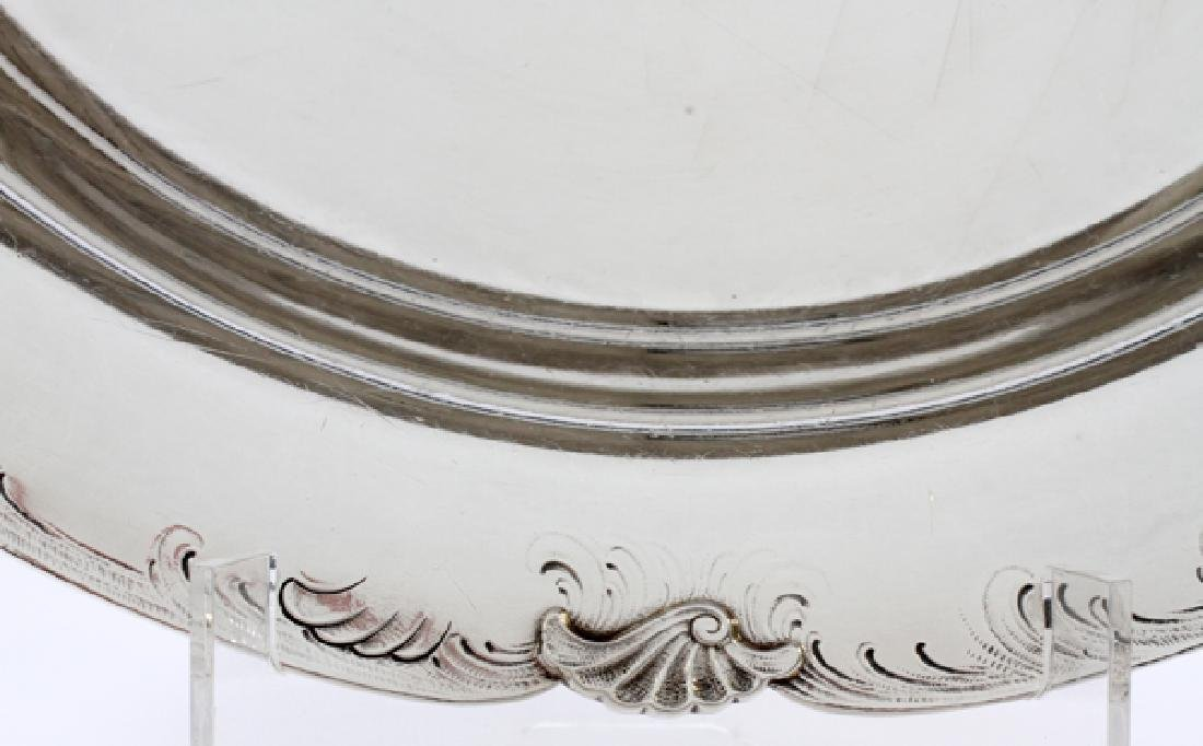 BARBOUR SILVER CO. STERLING FOOTED TRAY - 3