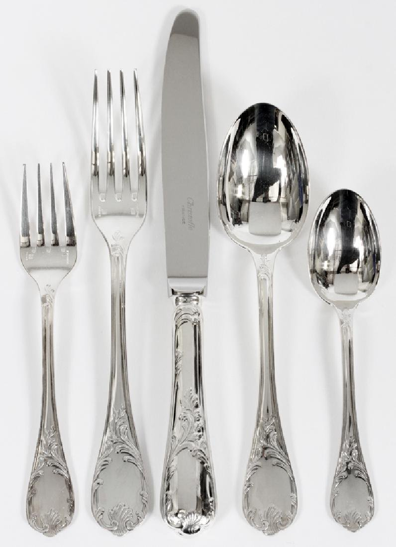 CHRISTOFLE SILVER PLATED FLATWARE, 60 PCS