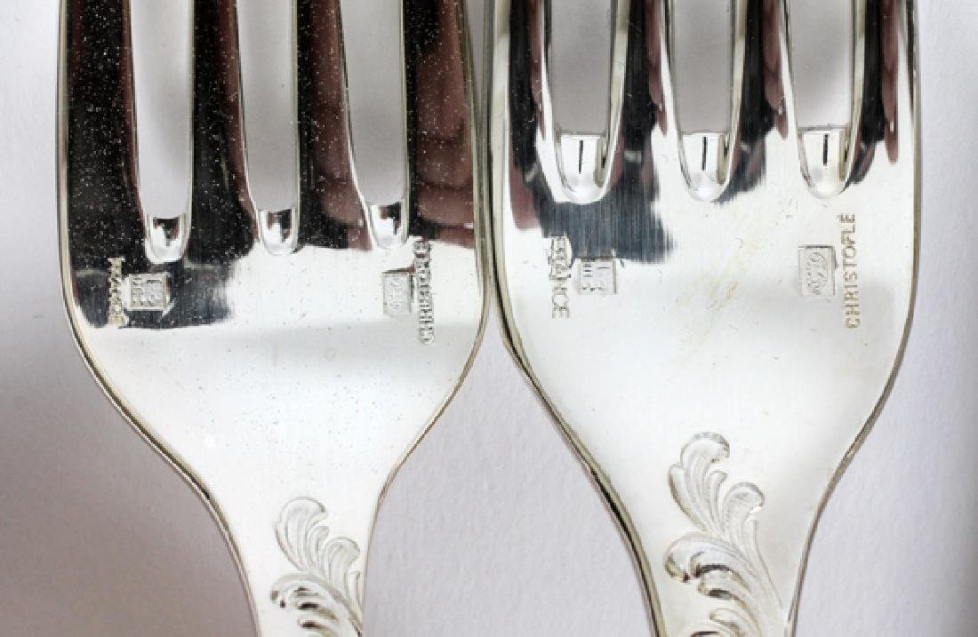 CHRISTOFLE SILVER PLATED FLATWARE, 60 PCS - 2