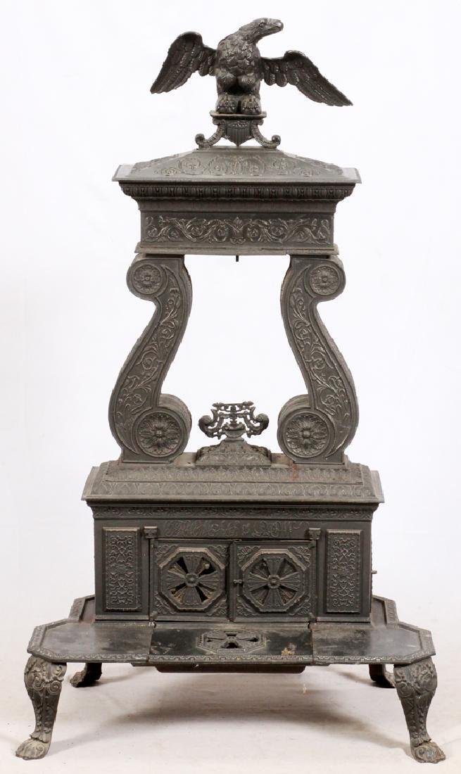 AMERICAN CAST-IRON PARLOR STOVE, C. 1844