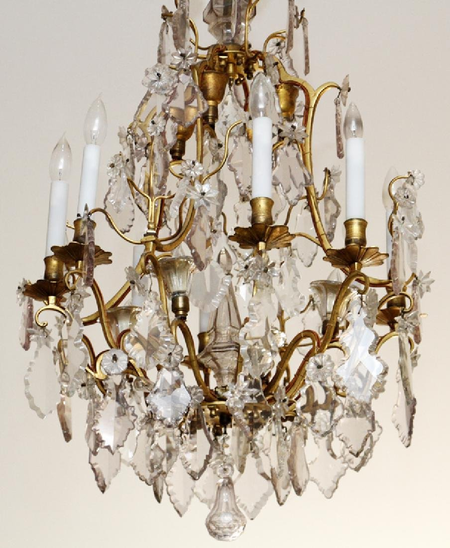 FRENCH BRONZE MOUNTED & CRYSTAL CHANDELIER - 2