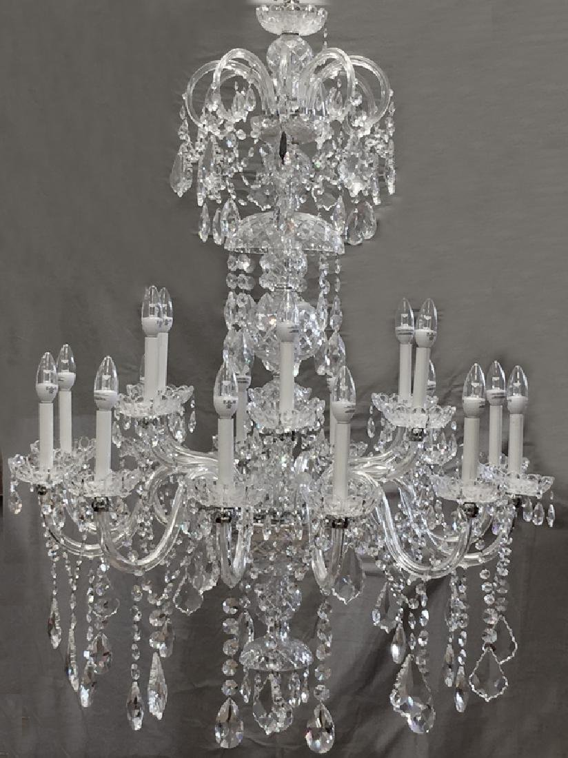 "CRYSTAL 20 LIGHT CHANDELIER H 48"", DIA 36"""