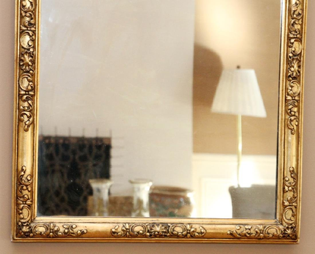 GEORGE I STYLE CARVED GILT WOOD MIRROR - 3