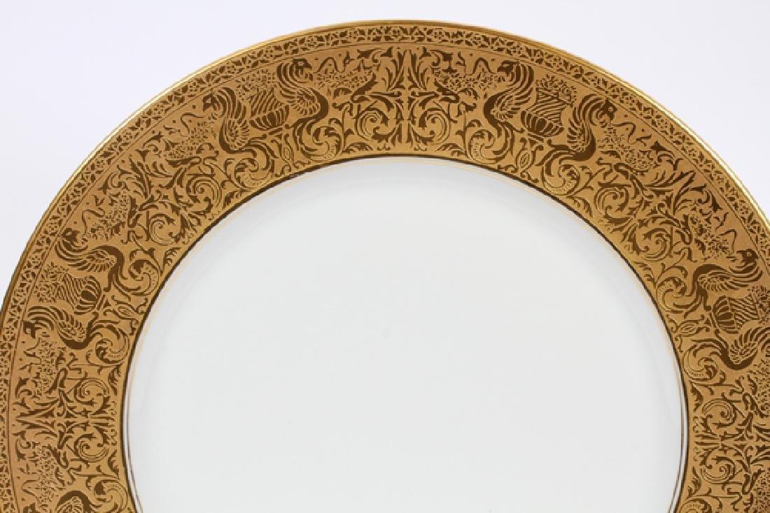HEINRICH & CO., BAVARIA, PORCELAIN DINNER PLATES - 2