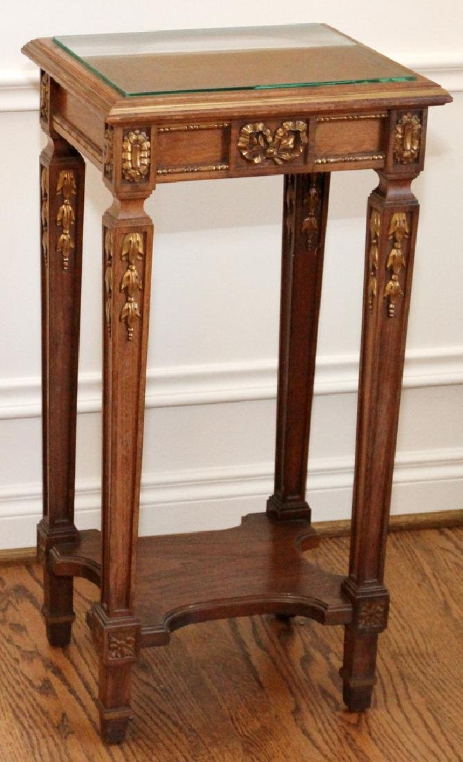 LOUIS XVI-STYLE GILT WALNUT OCCASIONAL TABLE