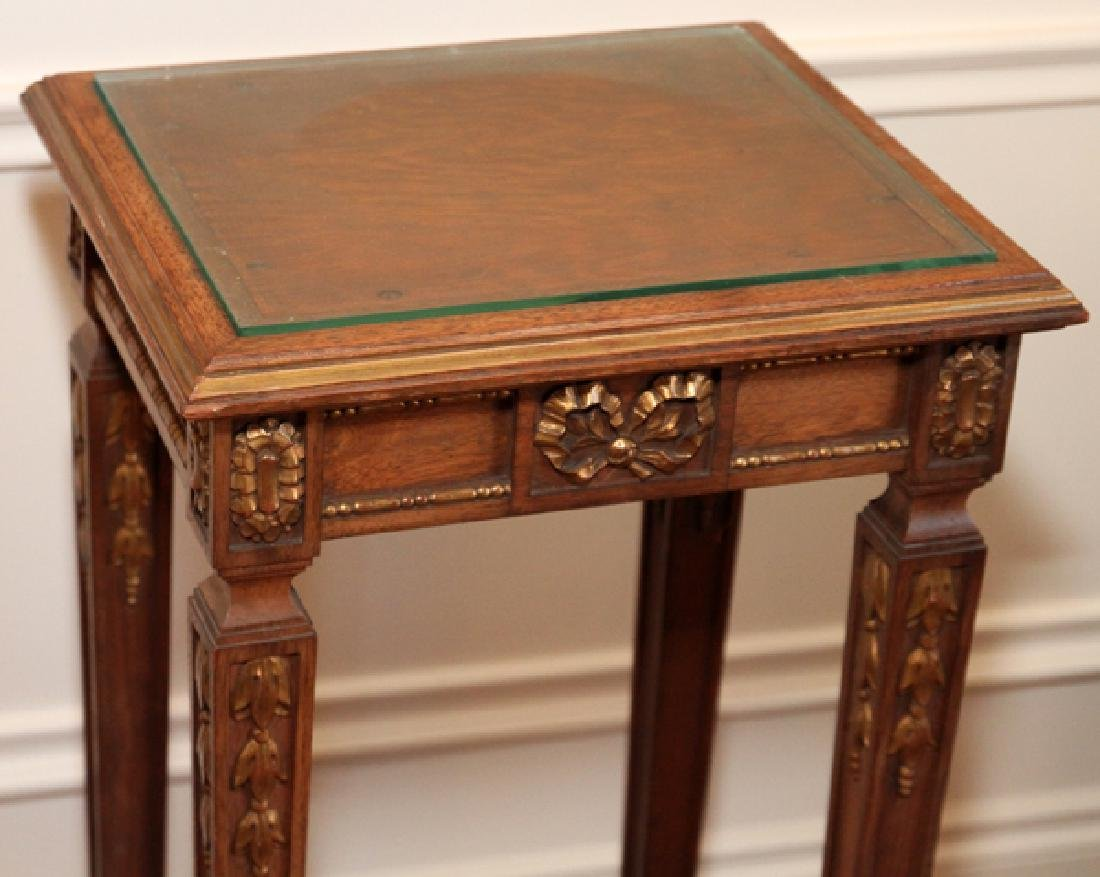LOUIS XVI-STYLE GILT WALNUT OCCASIONAL TABLE - 2
