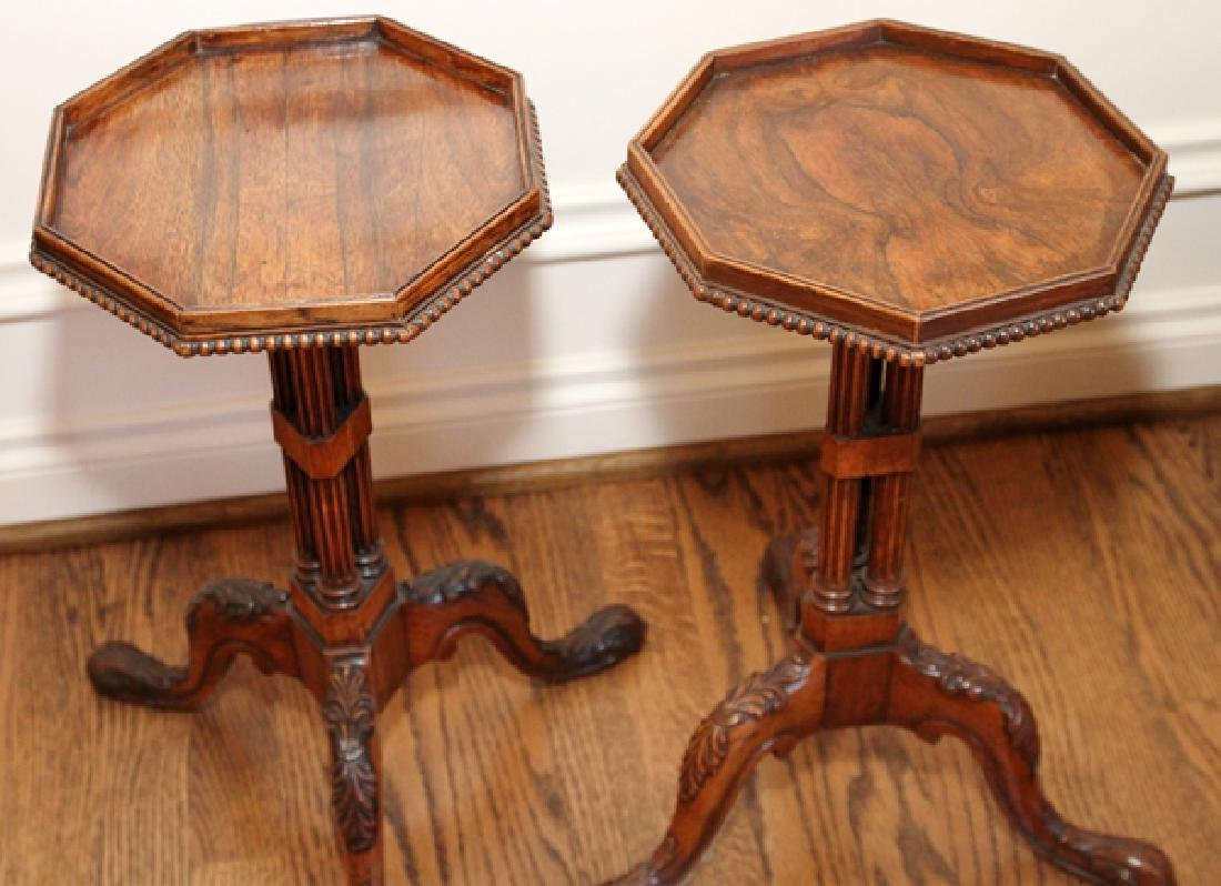 ENGLISH GEORGE III STYLE CARVED MAHOGANY TABLES - 5
