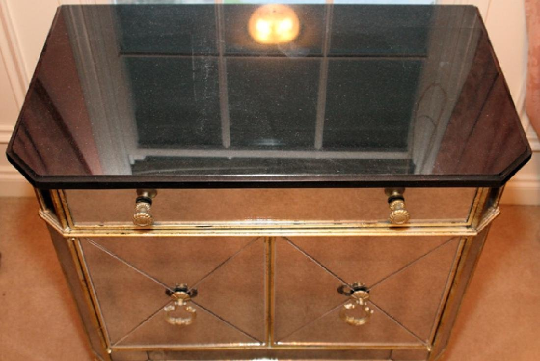 CONTEMPORARY MIRRORED CABINET C. 1950'S - 3