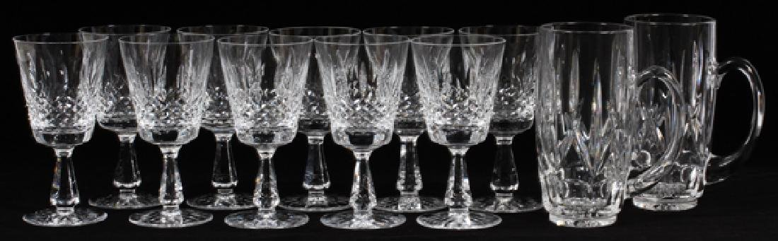 WATERFORD CRYSTAL GOBLETS & 'WEST HAMPTON' STEINS