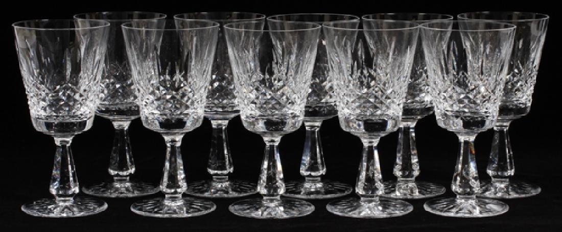 WATERFORD CRYSTAL GOBLETS & 'WEST HAMPTON' STEINS - 2