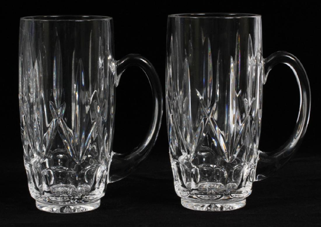 WATERFORD CRYSTAL GOBLETS & 'WEST HAMPTON' STEINS - 4