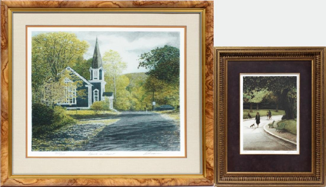 HAROLD ALTMAN LITHOGRAPHS 2 PCS.
