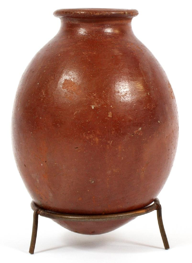 EGYPTIAN RED-POLISHED POTTERY JAR