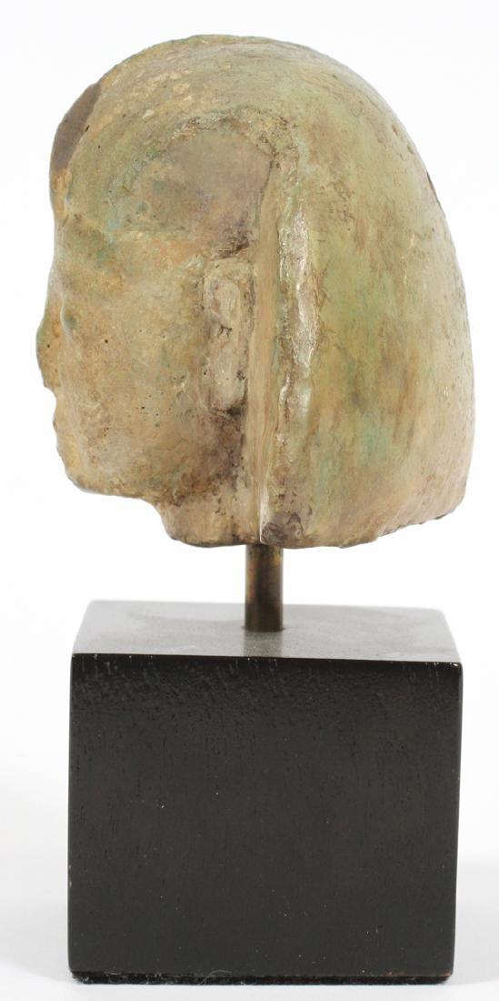 EGYPTIAN GLAZED FAIENCE HEAD OF A KING - 4