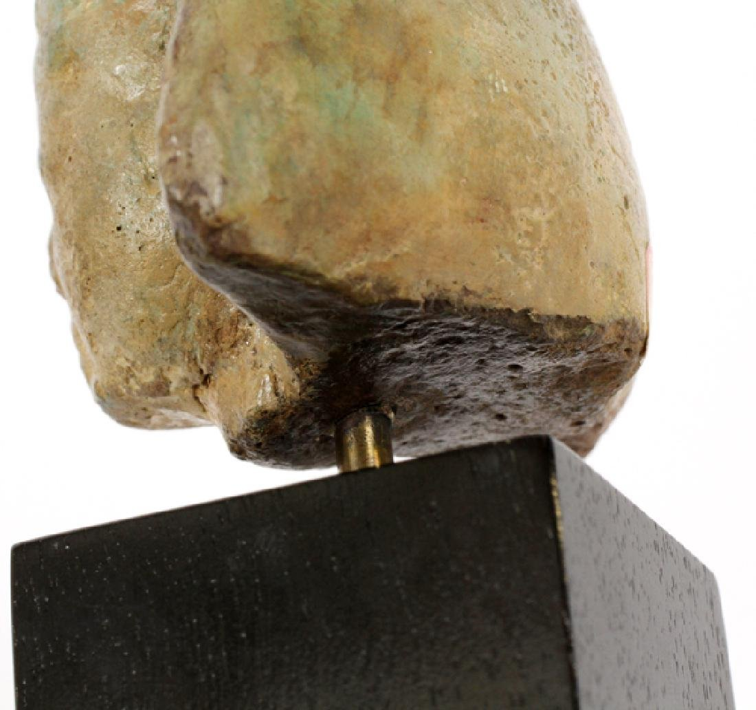 EGYPTIAN GLAZED FAIENCE HEAD OF A KING - 6